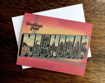 Greetings from michigan 1 card blank inside greetings from michigan card red 6 blank inside m4hsunfo