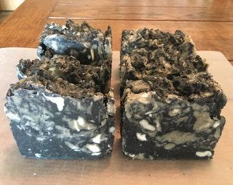 All natural Bentonite & Charcoal homemade Vegan soap bar body bar shower bar