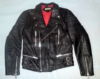 RAOUL SIMON - 70's French Biker Rider Motorcycle Lady's Jacket, size 46