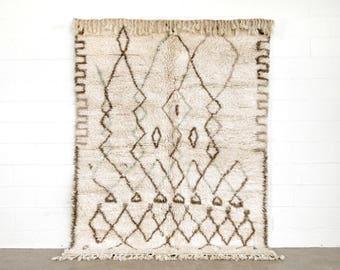Floor Rug, Moroccan Rug, Vintage Moroccan Berber Azilal Handwoven Wool Area Floor Rug, 6 x 8