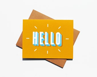 Hello | Greeting Card | Hand-Lettered Digital Illustration