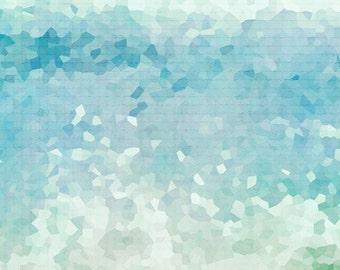Ocean Abstract Photograph, Aqua Teal Print, Beach, Seascape, Sea Green Blue Wall Art, Abstract Water Photograph 8x12 and up