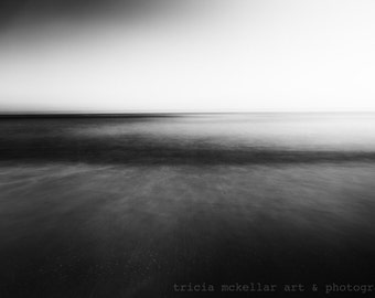 Oversized Art, Black & White, Abstract Ocean Photography, Large Print or Canvas up to 40x60