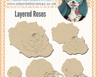 Mixed Media Blanks ~ Accessories ~ Roses Kit ~ Paperbabe Stamps ~ MDF Substrate for mixed media and craft.