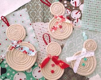 Snowmen Ornaments - Set of 4