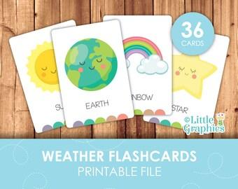 Weather Flashcards
