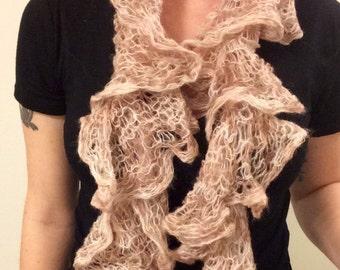 Lace Yarn Knit Scarf