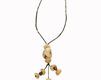 Beis necklace in Vegetable Ivory  (Tagua or Corozo)