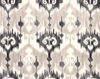 Marlena Graphite Ikat Fabric by Richloom