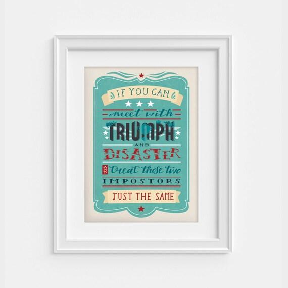 Rudyard Kipling If Poem Poster Wimbledon 1260 X 1810