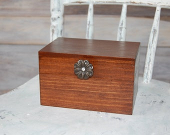 Rustic Handcrafted Recipe Box/ Wood Recipe Box/Recipe Box/ Rustic Decor/ Rustic Wedding Decor/ Kitchen Decor/ Home Decor/Wedding Party Gift