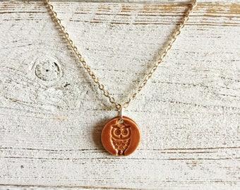 Ceramic Owl Pendant, Fall, Halloween, Owl Jewelry, Unique Jewelry, Owls, Ceramics, Ceramic Jewelry, Halloween Jewelry