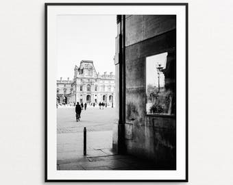 Paris Photography, Louvre Print, Paris Wall Art, Paris Print, Paris Decor, Paris Street Photography, Paris Architecture