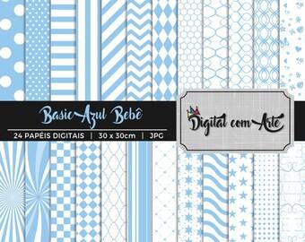 50% OFF - Baby Blue Digital Paper
