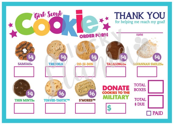 Persnickety image throughout girl scout cookie order form printable