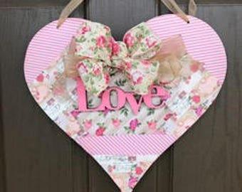 Pink Love Valentine's Day Door Hanger