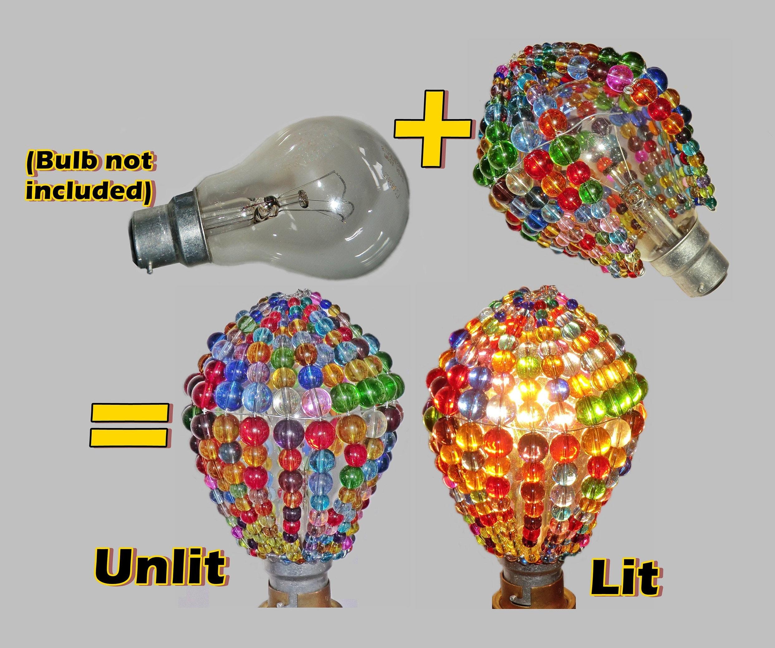 Crystal Chandelier Inspired Glass Lightbulb GLS Newton Bulb Cover ...