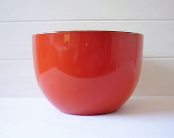 Red Finel Enamel Bowl