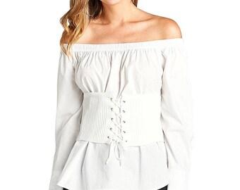 Grommet accents fashion corset