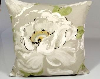 Designer pillow cover, Decorative pillow, Sanderson pillow cover, floral pillow