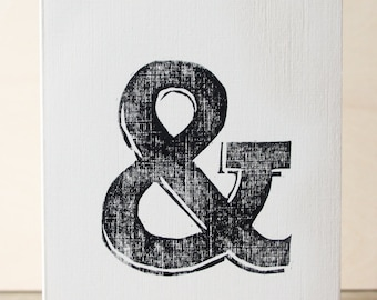 Ampersand Woodcut Greetings Card