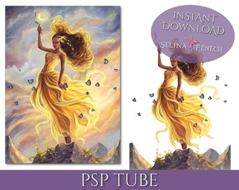 PSP Tagger Tube - Lady of Air - Fairy Fantasy Digital Scrapbooking Download PSD Graphic