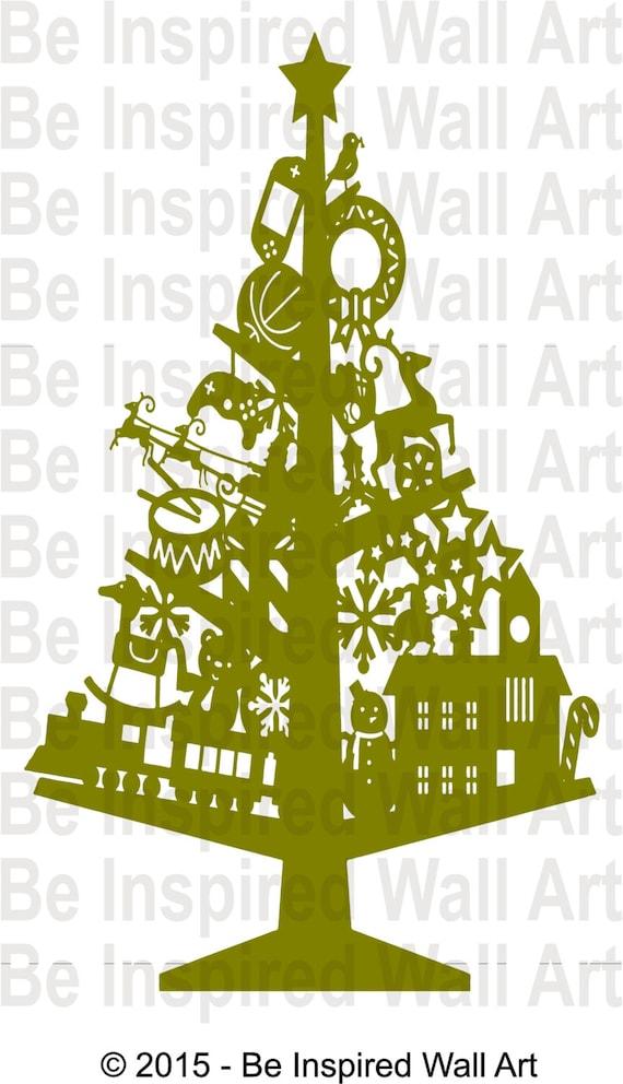 Christmas Present Tree Wall Art Sticker