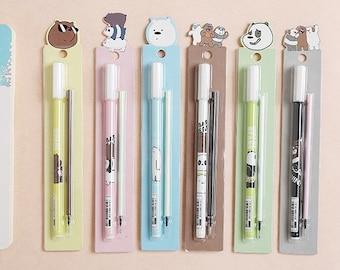 We Bare Bears Bookmark, Gel Pen & Refill .5mm Black P1103A