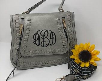 Libby Guitar Monogrammed Crossbody purse/ monogram purse/ guitar purse