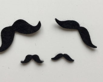 Felt Moustaches - Set of 4 - Small - Choice of colours