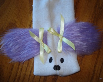 Purple eared Dog Puppy Sock Puppet from Puppets by Margie