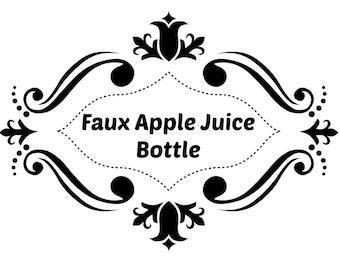 Faux Apple Juice Reborn Baby Bottle Add On