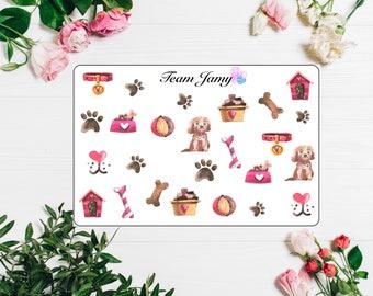 Puppy stickers for Erin Condren, Happy Planner, Filofax, Scrapbooking etc