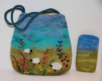 Felted handbag & Eyeglass case