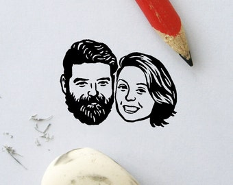 Wedding favors for guest Personalized gift Custom portrait Illustrated Couples / bridesmaids valentine's save the date Unique couples' art