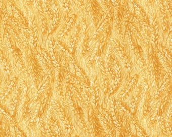 Wheat fabric - Down on the Farm -  Blank quilting - 8188 44 Golden Yellow  - priced by the 1/2 yard