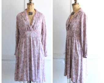 SALE vintage 70s dress | vintage paisley dress