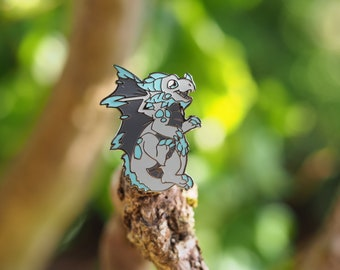 Frost Dragon Hard Enamel Pin