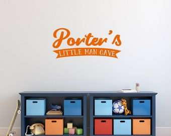 Custom Little Man Cave - Personalized Custom Nursery and Kid's Room Wall Decals