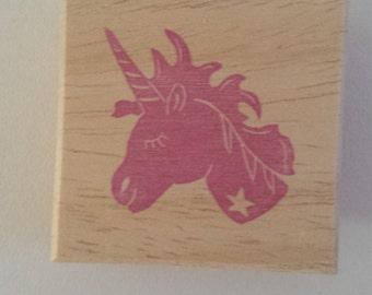 Starry Unicorn stamp