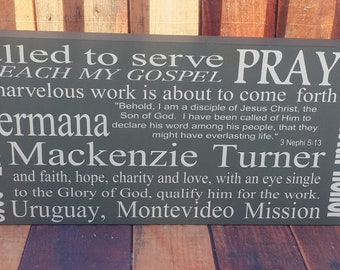 Mission, LDS Missionary Personalized Sign, Missionary Mom Gift, Wood Sign, Mission decor, homecoming, farewell
