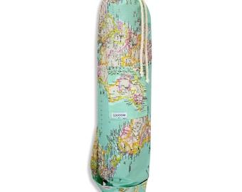 World Map Wobble yoga bag
