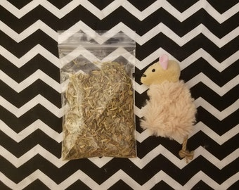 Pre-Stuffed 4-in-1 Catnip-Alternative Blend Toy (Reusable)