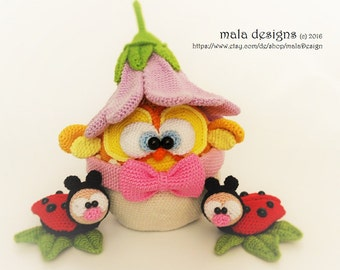 easter chick, a crochet pattern by mala designs