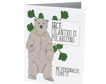 CILANTRO is POLARIZING |  Funny Christmas card