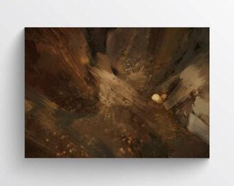 Fine Art Canvas Print 'Mocca', Wall Art, Impressionist Painting Print