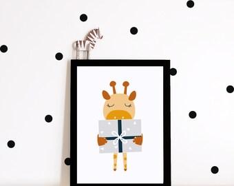 Giraffe Nursery wall art, nursery prints, Kids prints, nursery decor, nursery poster, kids wall decor, giraffe
