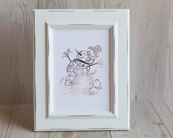 Snowman Foil Print