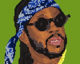 2 Chainz Pixel Art Sticker