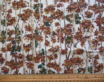 Brown Trees on Cream Background - 1/2 Yard  Br-1/2-6